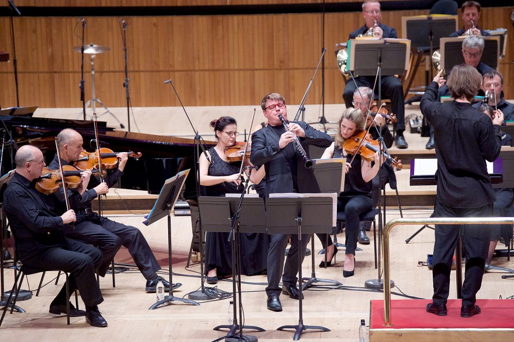 New Music Biennial 2017 supported by the PRS For Music Foundation at The Southbank Centre, London, Great Britain 9th July 2017 Day 3 Simon Holt: Joy Beast Basset clarinet concerto written for Mark Simpson & orchestra (BBC Philharmonic Orchestra) Photograph by Elliott Franks Image licensed to Elliott Franks Photography Services